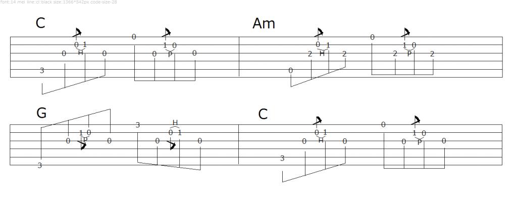 アルペジオパターン2-3
