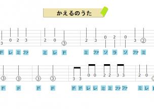 10分で弾ける!ギターのドレミで弾ける曲!